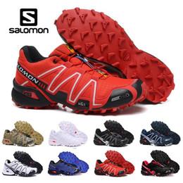 afbb4bd3e 2019 Solamon Shoes Speed Cross 3 CS III deportivos zapatillas de deporte de  los hombres de camuflaje exterior cómodos zapatos para correr para hombre  ...