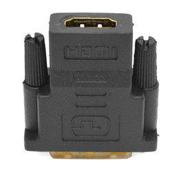 Placa de alta definición online-HDMI a DVI macho 24 + 1 adaptador chapado en oro de alta definición 1080P conector del monitor de TV el proyector HD de conector