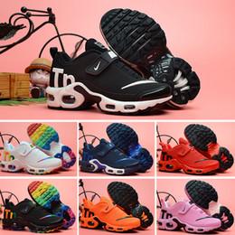 2019 детская обувь hello kitty Nike Mercurial Air Max Plus Tn Плюс роскошные Дизайнерские Спортивные Кроссовки Дети Мальчик в Девочке Кроссовки Tn Кроссовки Классические Открытый Малыша Кроссовки 28-35