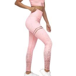 Pantaloni trasparenti femminili online-Leggings con stampa oro per nuove donne Senza leggings per fitness trasparenti per esercizi Push Up Workout Female Pants # P15
