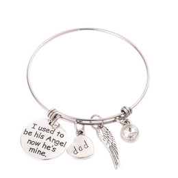 Amo bracciali luna online-Bracciale in argento placcato I Love You To the Moon and Back Bracciale in filo espandibile Bracciale per la festa della mamma