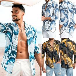 Moda Erkekler Lüks Baskı Gömlek Casual Şık Slim Fit Uzun Kollu Elbise T Gömlek cheap stylish long shirts nereden şık uzun gömlekler tedarikçiler