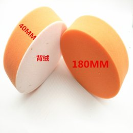 Gelb 7 Zoll Auto Polierschwamm Selbstklebende, runde Disc Polierscheibe Sponge Flachplatte Durchmesser 180 mm * 40