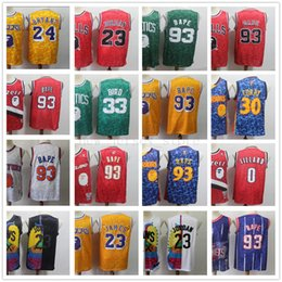 mens jersey red Coupons - Cheap Wholesale Man Mens Retro 100% Stitched Jersey Top Quality White Blue Red Green Yellow Jersey Free Shipping