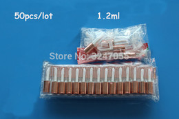 small sample lipsticks Promo Codes - 50pcs lot 1.2ML Mini Empty Plastic Clear Lip Gloss Tube with Rose Gold Cap, Small Lipstick Lip Refillable Sample Bottle