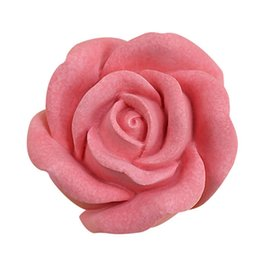 candle moulds Promo Codes - large size silicone mold soap candle fondant making moulds 3D Rose Flower Shape DIY Gadget pastry cake decoration baking tool