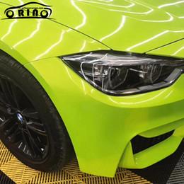 envolviendo el carro de oro Rebajas Magic Glossy Gold Lemon Green Vinyl Film Car Wrap Air Bubble Color Shift para vehículo Body Wrapping Foil Size 5FTX67FT ORINO WRAP