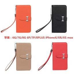 progettista telefono di lusso per iPhone Pro 11 Max X XS Max XR I7 8 8plus Fashion PU del cuoio della cassa del raccoglitore di trasporto libero da bordatura in plastica nera fornitori