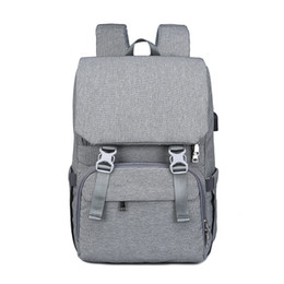 wetting diaper Promo Codes - Diaper Bag Backpack Large Multifunction Travel Back Pack Maternity Baby Nappy Changing Bags with USB Charging Port Waterproof and Stylish