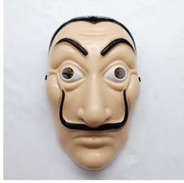 Papel Casa Dali Máscaras La Casa De Papel Máscara Salvador Cosplay Máscara De Plástico Halloween Realista Adulto Partido Adereços Para As Mulheres Dos Homens de Fornecedores de encantos de máscaras por atacado