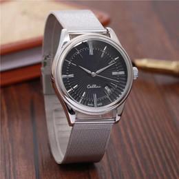 2020 tipos de relojes marcas Cellini Tipo famosa marca de moda reloj de los hombres 40MM acero inoxidable de alta calidad del macho relojes de cuarzo hombre de negocios reloj de pulsera Fecha tipos de relojes marcas baratos