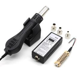 enchufe de soldadura Rebajas Eu Plug, 8858 Aire caliente Portátil Bga Rework Estación de soldadura Soplador de aire caliente Secador de pelo Secador de cabello +858 858D 8586 Cerámica H