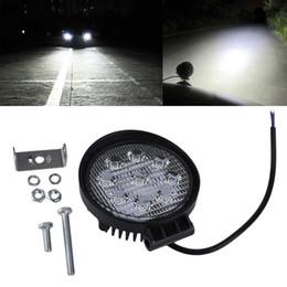 12v led luces de tractor online-27W Luz de trabajo LED 12V 24V IP67 Foco Luz de niebla Off Road ATV Tractor Tren Autobús Barco Proyector 4x4 ATV UTV Luz de trabajo