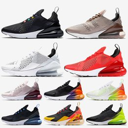 coralli superiori Sconti Nike Air Max 270 Top Quality Triple Nero Bianco Cuscini WMNS marca Running Shoes Lavato Coral Orbit Red Rose Appena Firecracker Tennis off Sport Sneakers