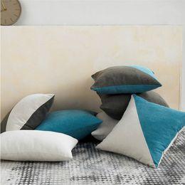 2019 almofadas almofada elegante Cor sólida elegante fronha simples quadrado Top Quality Patchwork Pillow Estilo da tampa do vintage capa de almofada decorativa sofá-cama desconto almofadas almofada elegante