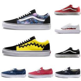 cc5b56c8f43 Classique vans old skool Vieux Skool Casual Chaussures D été Concepteur  Hommes Femmes Noir Blanc Toile Chaussures Sk8 Jeunesse Hip Hop Style Skate  ...
