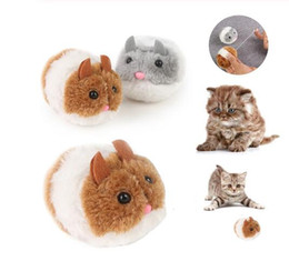 cartoon rats Coupons - Fashion Kitten Toys Bite toy Cute Plush Fur 1PC New Pet Little Interactive Movement Rat Mouse Shake Funny Cat Toy GB1299