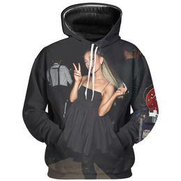 b2ca918e Ariana Grande 3D Print Hip Hop 2019 New Fashion Men and Women Hoodie and  Sweatshirt Harajuku Long Sleeve Apparel