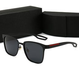 gafas de sol deportivas naranjas Rebajas PRADA 0120 Gafas de sol cuadradas de lujo para hombres de diseño de verano, sombreros negros de gran tamaño para las mujeres gafas de sol masculinas