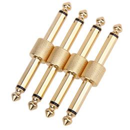 2020 effektpedalanschluss 6.35mm Gitarren-Effektpedal Adapter Stecker JACK-JACK Converter Gerade Gitarren-Teile rabatt effektpedalanschluss