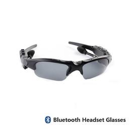 Auriculares para ciclismo online-Gafas de sol de ciclismo Montar auriculares Bluetooth Gafas inteligentes Deporte al aire libre Bicicleta inalámbrica Gafas de sol Auriculares con micrófono