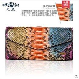 2020 importierte brieftaschen Yuanyu Neue python haut brieftasche echte importierte schlangenhaut brieftasche lange handtasche schlangenkorn dame geldbörse frauen tasche rabatt importierte brieftaschen