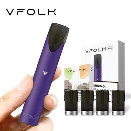 2020 vampas de kits de inicialização VFOLK Pro Vape Pen Starter Kit incluindo um Vape bateria Mod e quatro Pods vaporizador Cartucho Kits Embalagem E-cigarro vampas de kits de inicialização barato