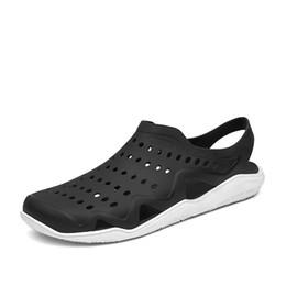 0667ea74e68 Men Sandals 2019 Summer New Cool Hole Shoes Men Casual Water Beach Shoes  Outdoor Men s Garden High Top Flip Flops Cheap