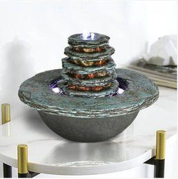 guirnalda de perlas de navidad Rebajas ¡¡¡Ventas!!! Envío gratis ventas al por mayor 7.5in Faux Cyan piedra cascada fuente interior con luz LED