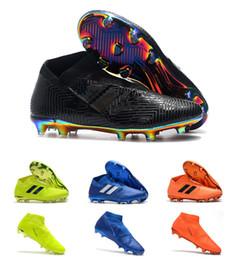 Chaussons de football de qualité supérieure Nemeziz 18+ FG AG taille 39-45 Noir Orange Bleu Vert Chaussures de football en plein air sans lacet, cheville haute ? partir de fabricateur
