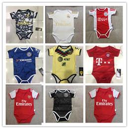 Argentina 2019 traje de bebé Fútbol ajax Jump 2020 Real Madrid bebé Triángulo subida de la ropa pedro Bayern america camisetas de México bebé Suministro