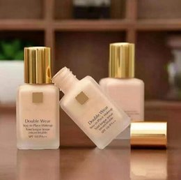 Liquid foundation онлайн-Top Quality Double Wear Liquid Foundation Stay in Place Makeup 30ml Nude Cushion Stick Radiant Makeup Foundation