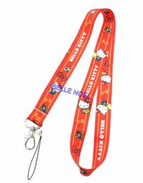 d83dc4460 10Pcs Popular Cartoon kitty Neck Straps Lanyards Mobile Phone,ID Card,Key