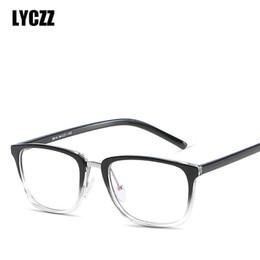 Argentina LYCZZ TR90 Classic Male Brand Anteojos Cuadrados Diseñador Moda Mujeres Impresión Decoración Gafas Ópticas Gafas silueta cheap silhouette glasses Suministro