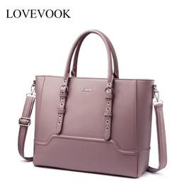 переносная сумка для ноутбука Скидка LOVEVOOK женщины сумка с верхней ручкой плеча сумки женский crossbody сумки для офиса дамы большой емкости сумка для ноутбука