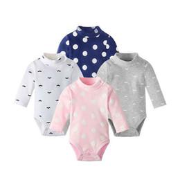 pijamas de colarinho Desconto 2019 novas crianças meninos e meninas calças pijama bebé macacão de bebê de alta colarinho