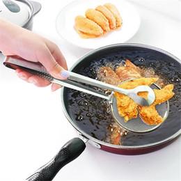 edelstahl essen Rabatt Küche Edelstahl Öl Scoop Fried Food Fischerei Öl Sieb Küche Sieb Abfluss Nützliche Küche Zubehör TTA841