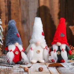 2019 gold sterne weihnachtsschmuck großhandel 8Inch Plüsch Gnome Puppe Ornamente Schwedische Weihnachten Sankt mit Gebunden Beard Nordic Elf Figurine Startseite Feiertags-Dekoration