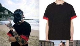 Canada Summer Street wear Europe Mode Hommes Noir Rouge Flamme Haute Qualité Coton Tshirt Casual Tee T-shirt S-3XL Offre