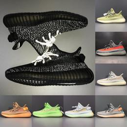 Adidas yeezy 350 V2 2019 New Color Trfrm Synth Reflective Uomo Donna Scarpe da corsa Iperspazio Statico Nero Kanye West Bred Sport Sneakers Scarpe sportive supplier yeezy runs da yeezy funziona fornitori