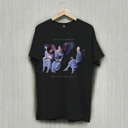camisas sabáticas negras Rebajas Nuevo Black Sabbath Fallen Angel Logo Camiseta con camisetas negras Camiseta S-2XL Camiseta 100% de algodón Harajuku Verano 2018