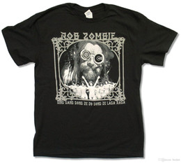 bande bianche Sconti ROB ZOMBIE - GING GANG GONG T-SHIRT NERO NEW WHITE METAL UFFICIALE ADULTI