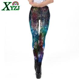 scale print leggings Coupons - Leggings Plus Size S-XL Galaxy Mermaid Women  Workout Fitness 4d110d4896d1