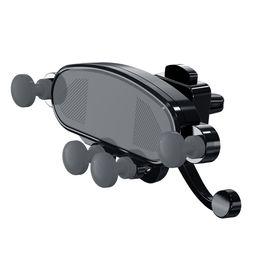 Staffa di sostegno online-Supporti per auto blocco gravità in auto Air Vent Clip cruscotto Monti no supporto cellulare magnetico supporto supporto per cellulare per iPhone Samsung