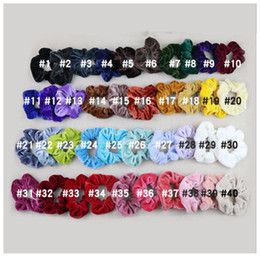 cheer bows schwarz Rabatt 40 Farbe der neuen Frauen-Samt-elastische Haar Scrunchie Scrunchy Lady Haarband Pferdeschwanz-Halter freies Verschiffen