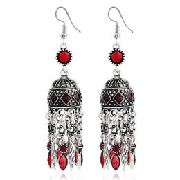 a2e2a4a71 China Popular Ornaments Retro BA Sub Nation Wind Earrings Dome Tassels Earrings  Female dome earrings for