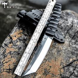Couteau forcé en Ligne-couteau de survie sauvage des forces spéciales en acier voltron D2, couteau droit d'autodéfense extérieure, couteau de survie jungle