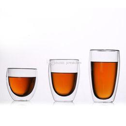 Camada De Parede Dupla Camada De Vidro De Vidro Resistente Ao Calor Copo De Água De Cristal De Cerveja De Cerveja Canecas de Chá Xícaras De Café de Fornecedores de copos grossos de champanhe de casamento