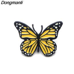 perni di smalto della farfalla all'ingrosso Sconti P3677 20pcs / lot farfalla animale sveglio del metallo Pins smalto e spille per Zaino spilla Borse Badge Regali freddi