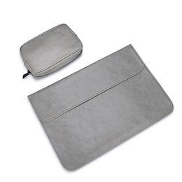 lederhülle für macbook 12 zoll Rabatt wasserdichte Notebookhülle 12 13,3 15 15,4 Zoll Leder Laptop Tasche Tasche Hülle für MacBook Air Pro 13 15 Fall